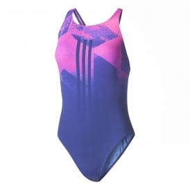 Adidas INFINITEX+ Graphic Swimsuit 1PC Mystery Ink /Blue/Shock Pink