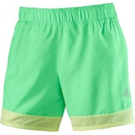 ADIDAS Supernova Running Shorts Ladies Green/Yellow