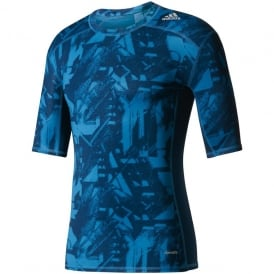 ADIDAS Techfit Base Graphic Tee Blue