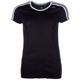 adidas Womens Response T-Shirt in Black-White