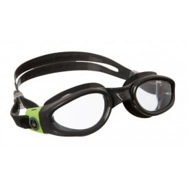 Aqua Sphere Adult Kaiman Clear Slices Swimming Goggles Black Lime