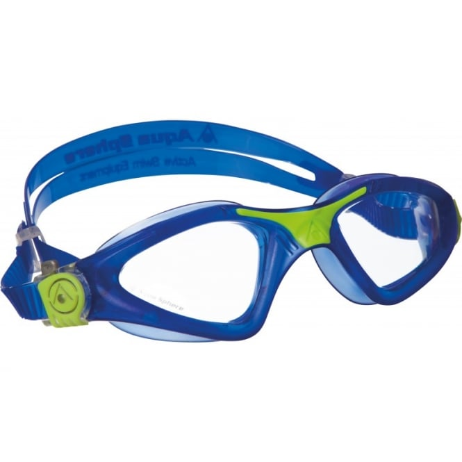 Aqua Sphere Kayenne Clear Lens Swim Goggles Blue/Lime