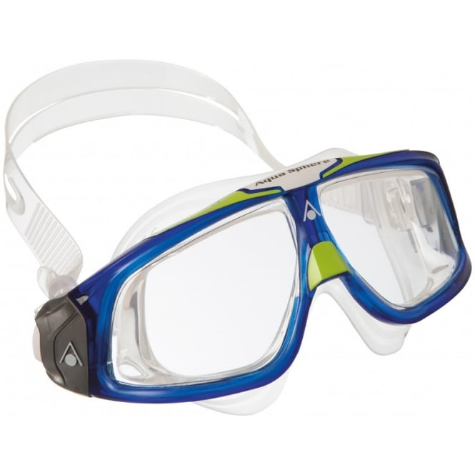 Aqua Sphere Seal 2.0 Clear Lens Swim Goggles Blue/Lime