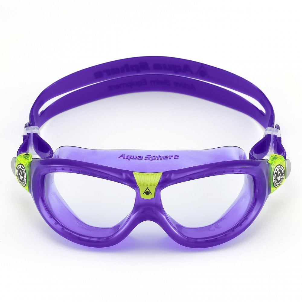 5191dd7662 Aqua Sphere Seal Kid 2 Swim Goggle Clear Lens Violet Lime - Swimming ...