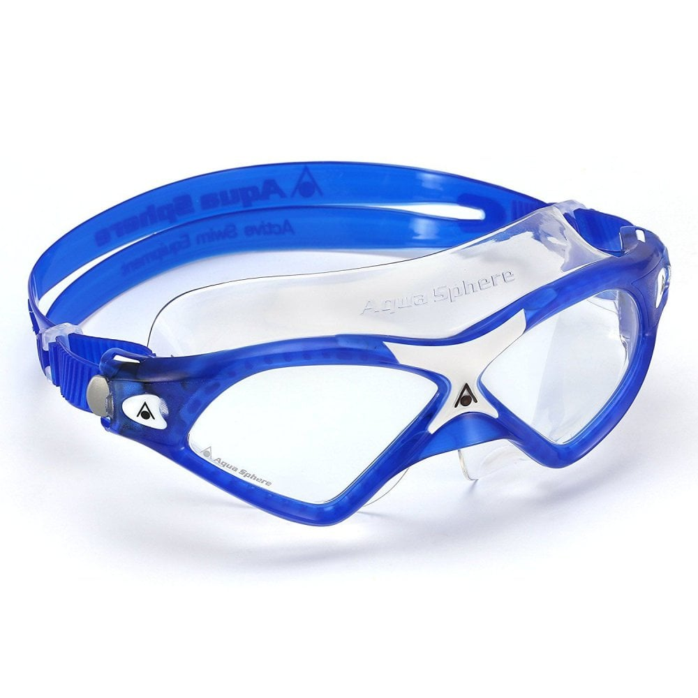 d06bed4cd224 Aqua Sphere Seal XP2 Swimming Goggles Clear Lens Blue White ...