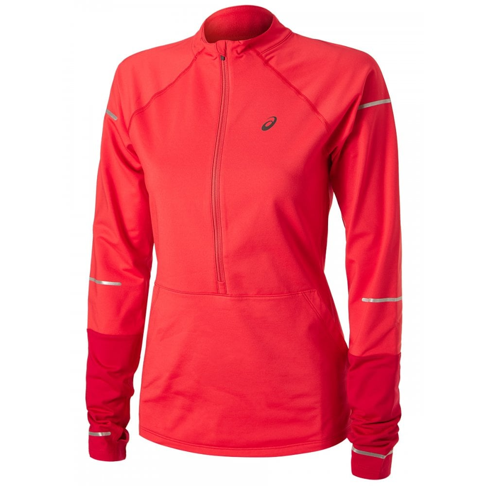 e952169511fe ASICS Women's Lite-Show Winter LS 1/2 Zip - Running from The Edge ...
