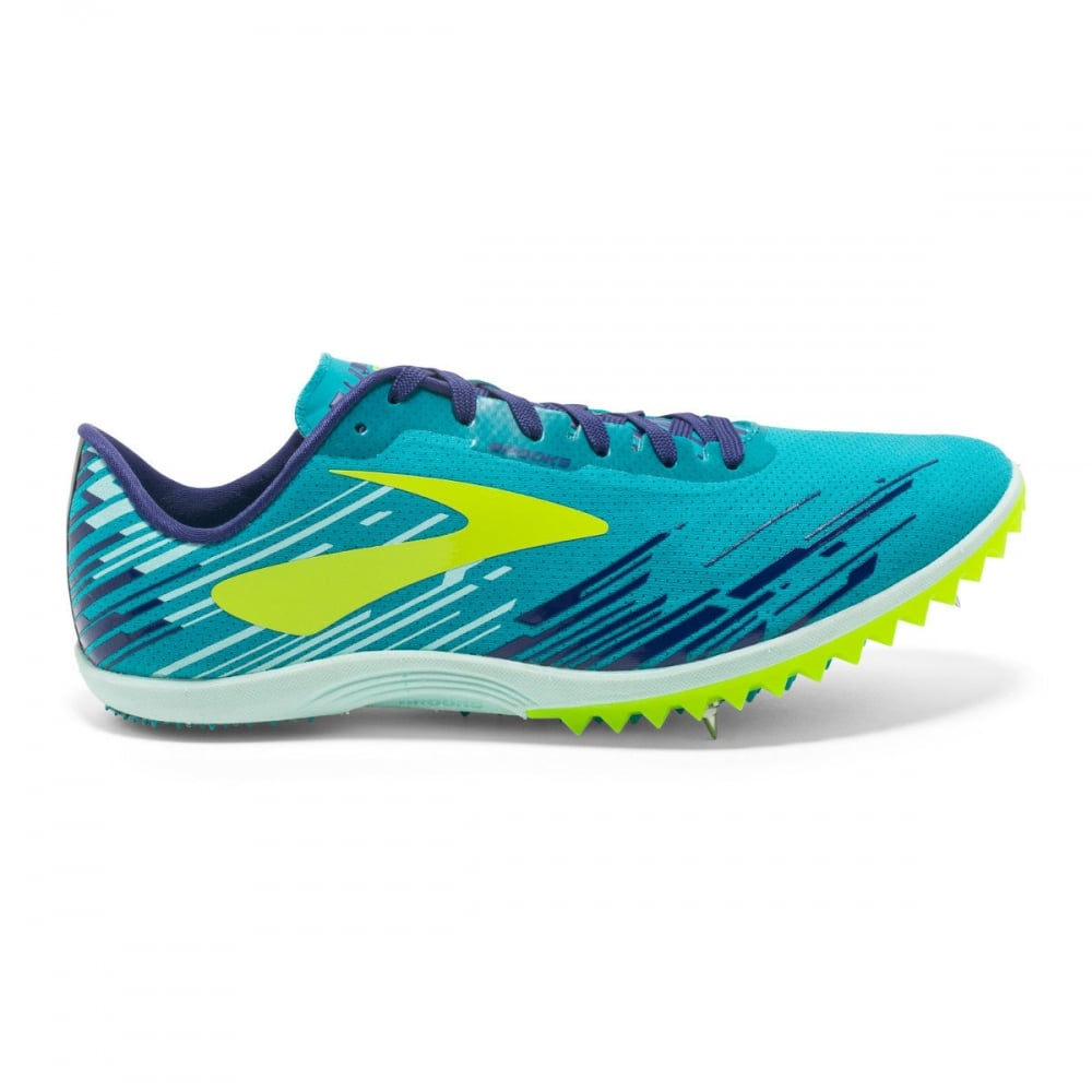4bcb54ef0b9e1 BROOKS Women s Mach 18 Spike Blue Yellow - Running from The Edge ...