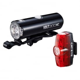 Cateye Volt 200 XC + Rapid Mini Light Set