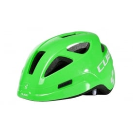 Cube Pro Junior Helmet Green Triangle