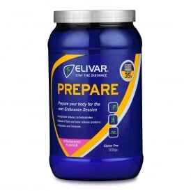 Elivar Prepare Pre-Training Energy and Protein Drink Mix 900g Strawberry