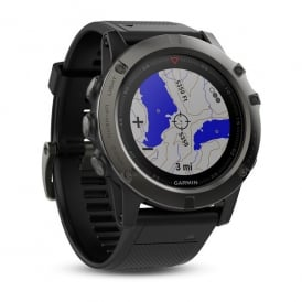 Garmin fēnix® 5X Slate Gray Sapphire with Black Band