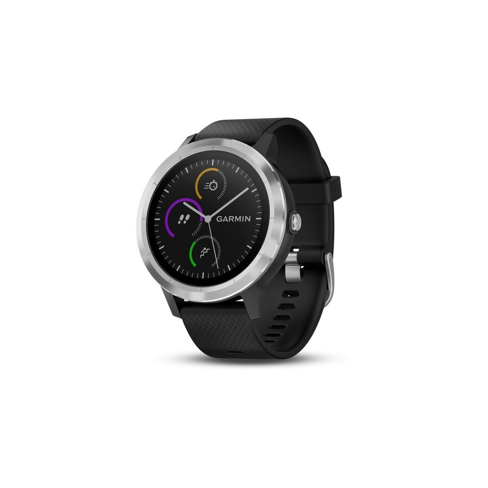 Garmin Vivoactive 3 Black Silicone Stainless Steel - Running from ... ddeb1a30af9