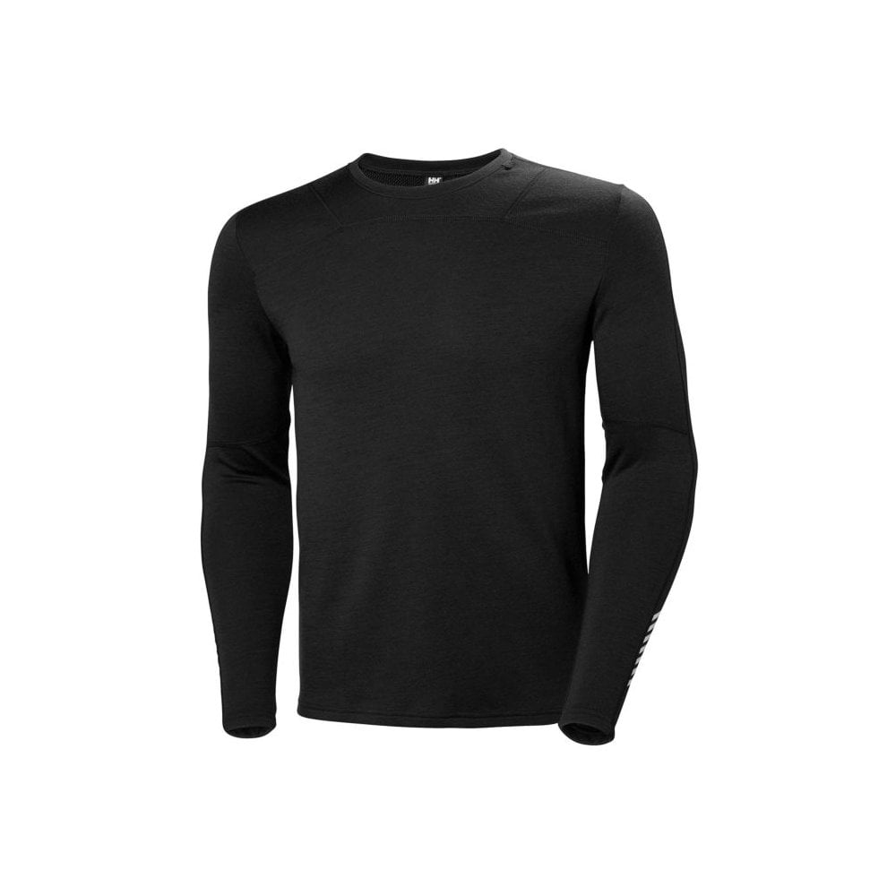 2019 Helly Hansen Lifa Merino Crew Top BLACK 48316