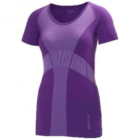 Helly Hansen Womens Dry Revolution Short Sleeve - Purple