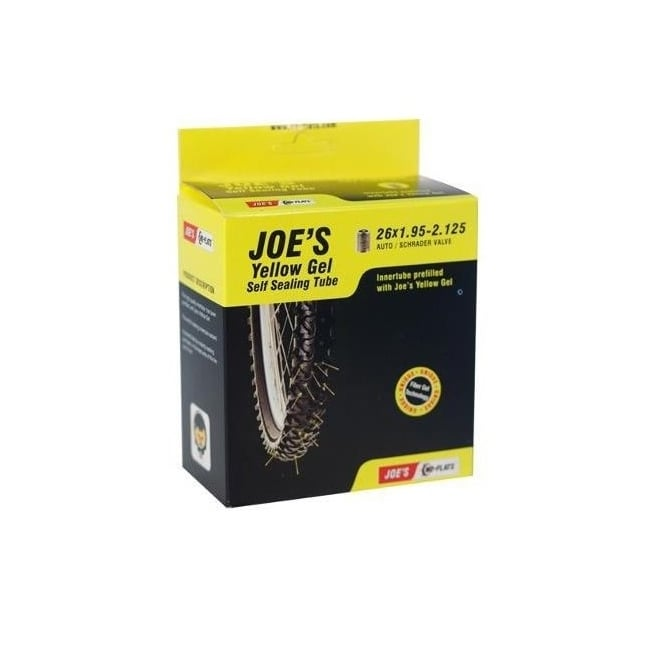 Joe's No Flats Yellow Gel Self Sealing Tube 26x1.95-2.125