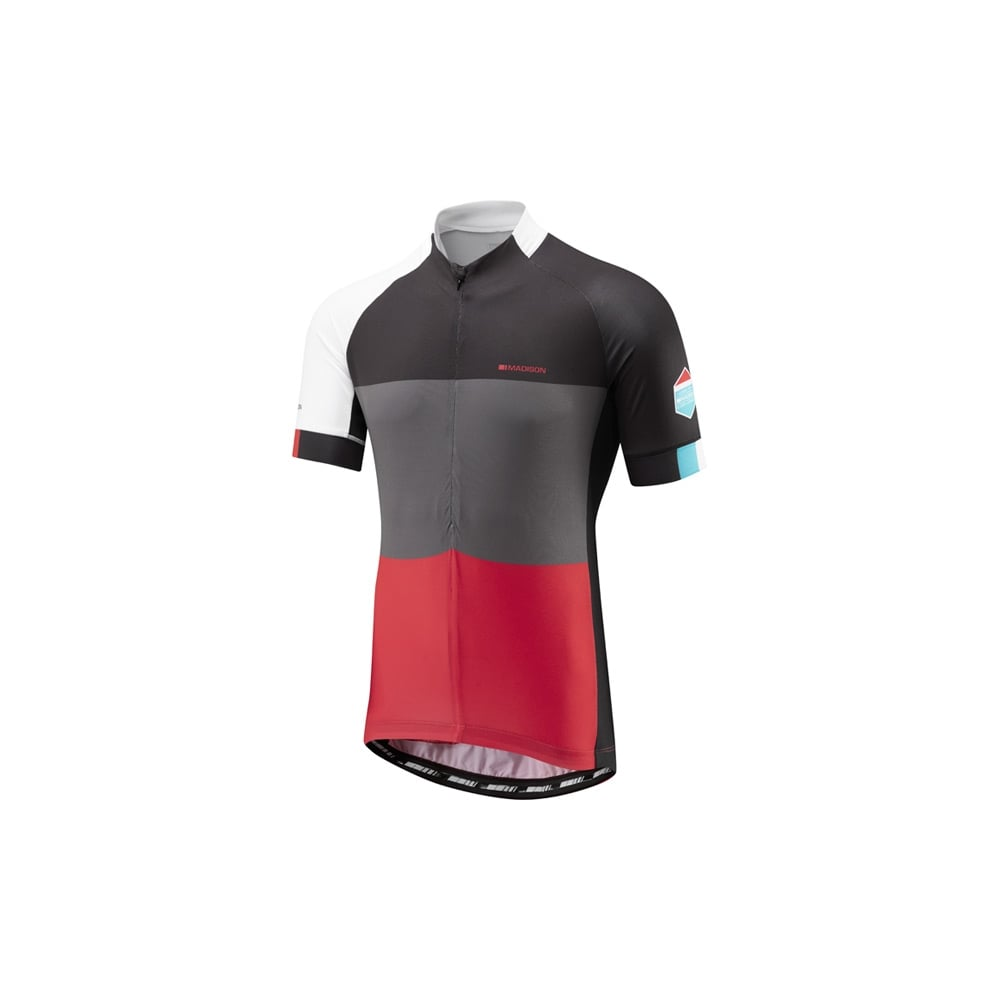 Madison Sportive Half ZIp Short Sleeve Mens Cycling Jersey Red
