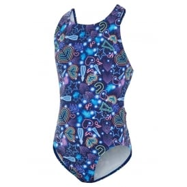 MARU Girl's Night Fever Auto Back Swimsuit Purple