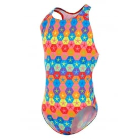 MARU Girl's Superstars Pacer Rave Back Swimsuit