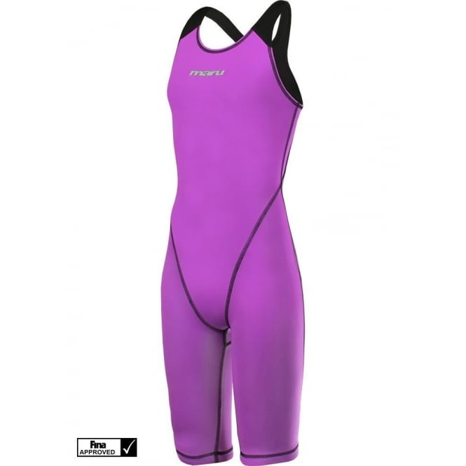 MARU XT3 Viper Junior Pro Leg Suit Girls Lilac/Black