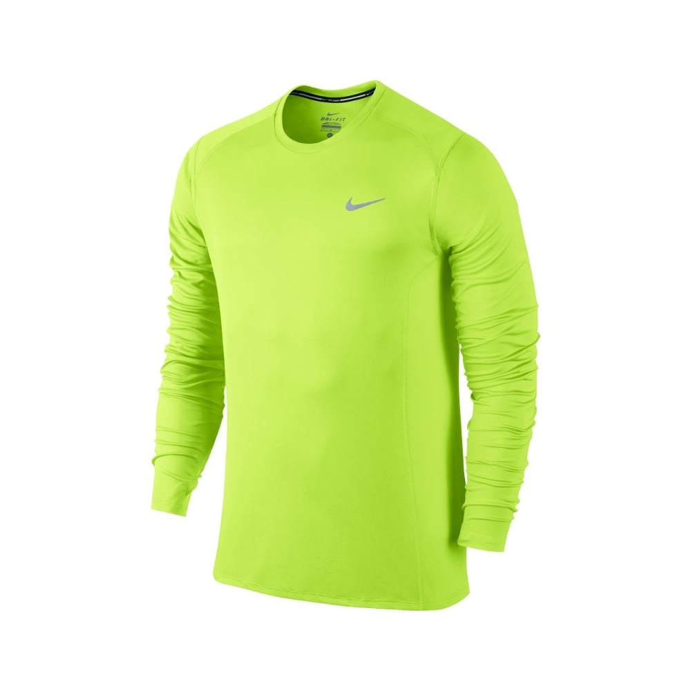 0a1395a7cd Nike Running Dri-FIT Miler Long Sleeve Top In - Running from The ...