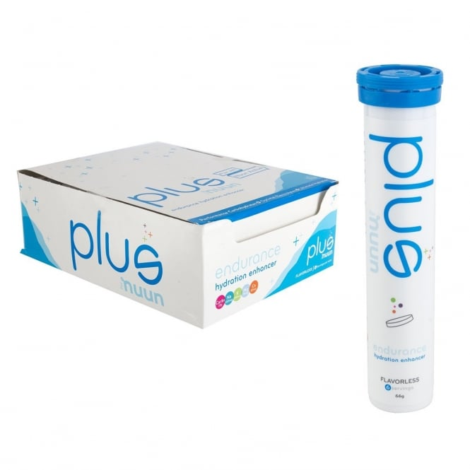 Nuun Plus Tablets: Unflavored, Box of 12 Tubes