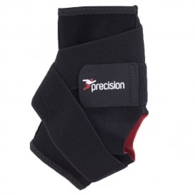 Precision Training Neoprene Ankle Support With Strap Black