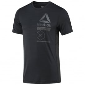 Reebok Men's ACTIVCHILL Zoned Graphic Tee Black