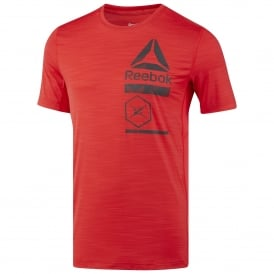 dae2cb17 Reebok Men's ACTIVCHILL Zoned Graphic Tee Primal Red