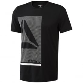 Reebok Men's Workout Ready Premium Graphic Tech Top Black