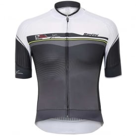 Santini Sleek Plus Short Sleeve Jersey White