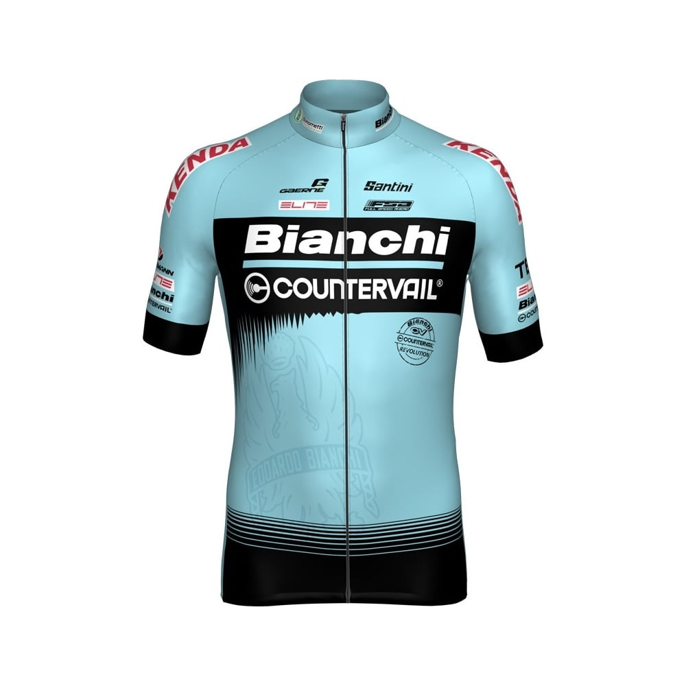 7c1d16531 Santini Team Bianchi Short Sleeve Jersey 2018 - Cycling from The ...