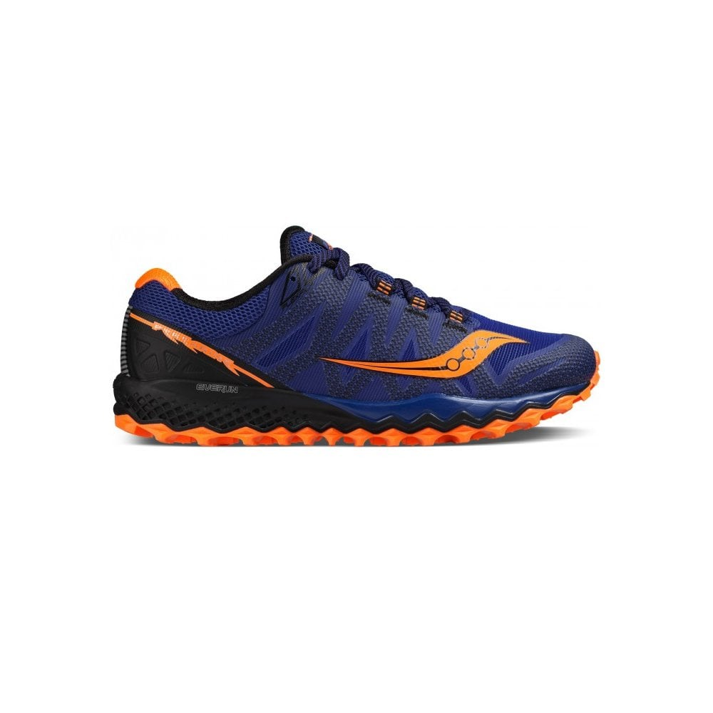 Saucony Mens Peregrine 7 Blue Orange