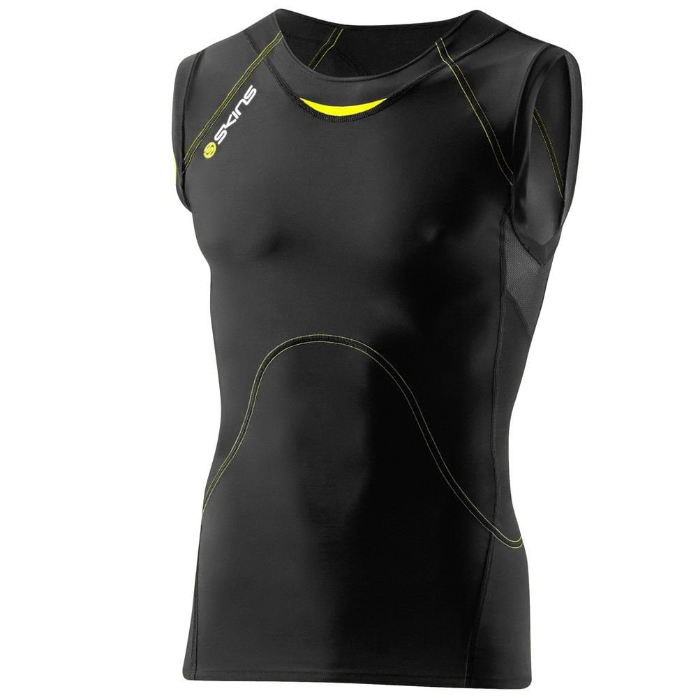 81d17466ad Skins A400 Men's Compression Sleeveless Top - Running from The Edge ...