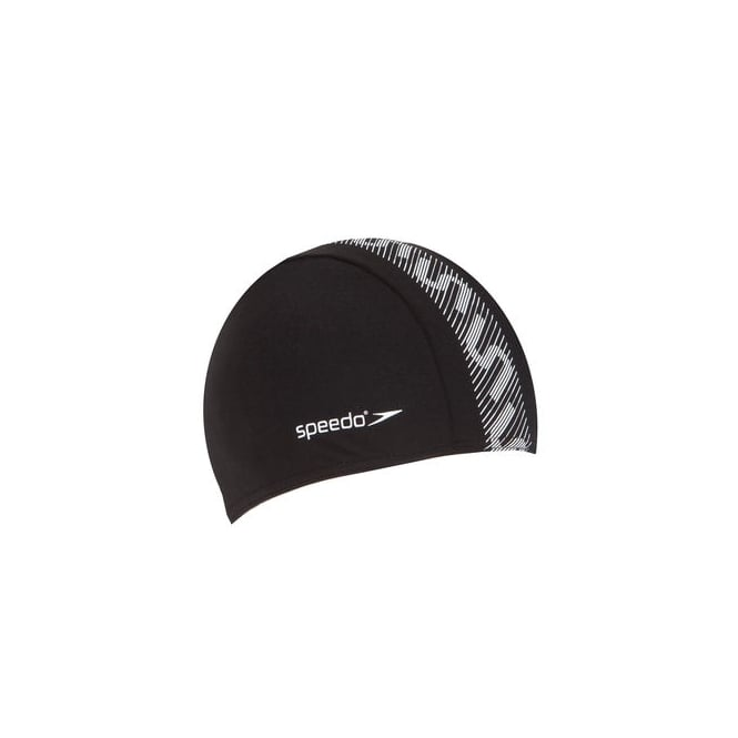 Speedo Monogram Cap Black/White