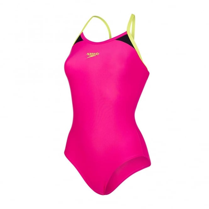 Speedo Women's Splice Thinstrap Racerback Swimsuit
