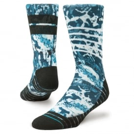 Stance Men's Athletic Frostbite Crew Socks Blue