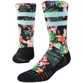 Stance Men's Athletic Hyberics Crew Socks Black