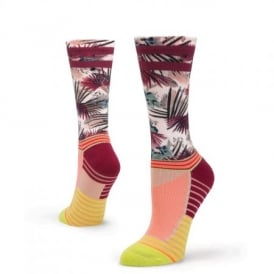 Stance Women's Athletic Record Crew Socks Lime