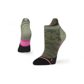 Stance Women's Run Elipse Tab Socks Olive