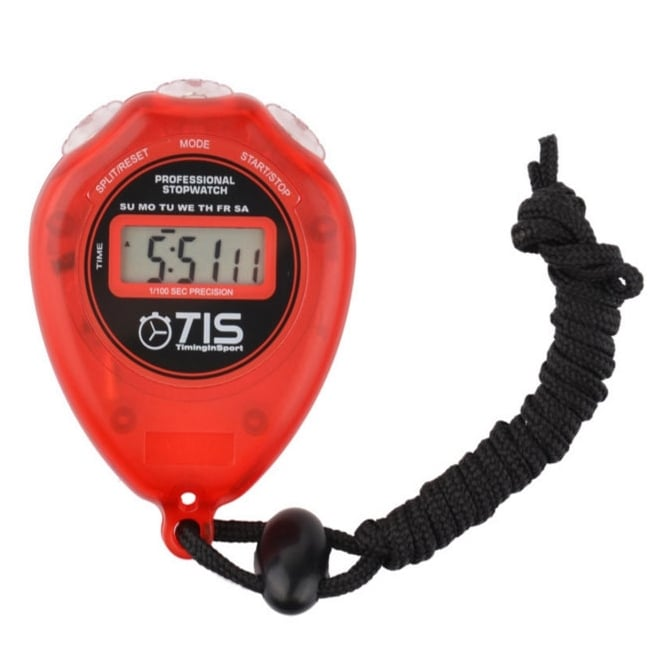 Timing In Sport TIS Pro 018 Stopwatch Red