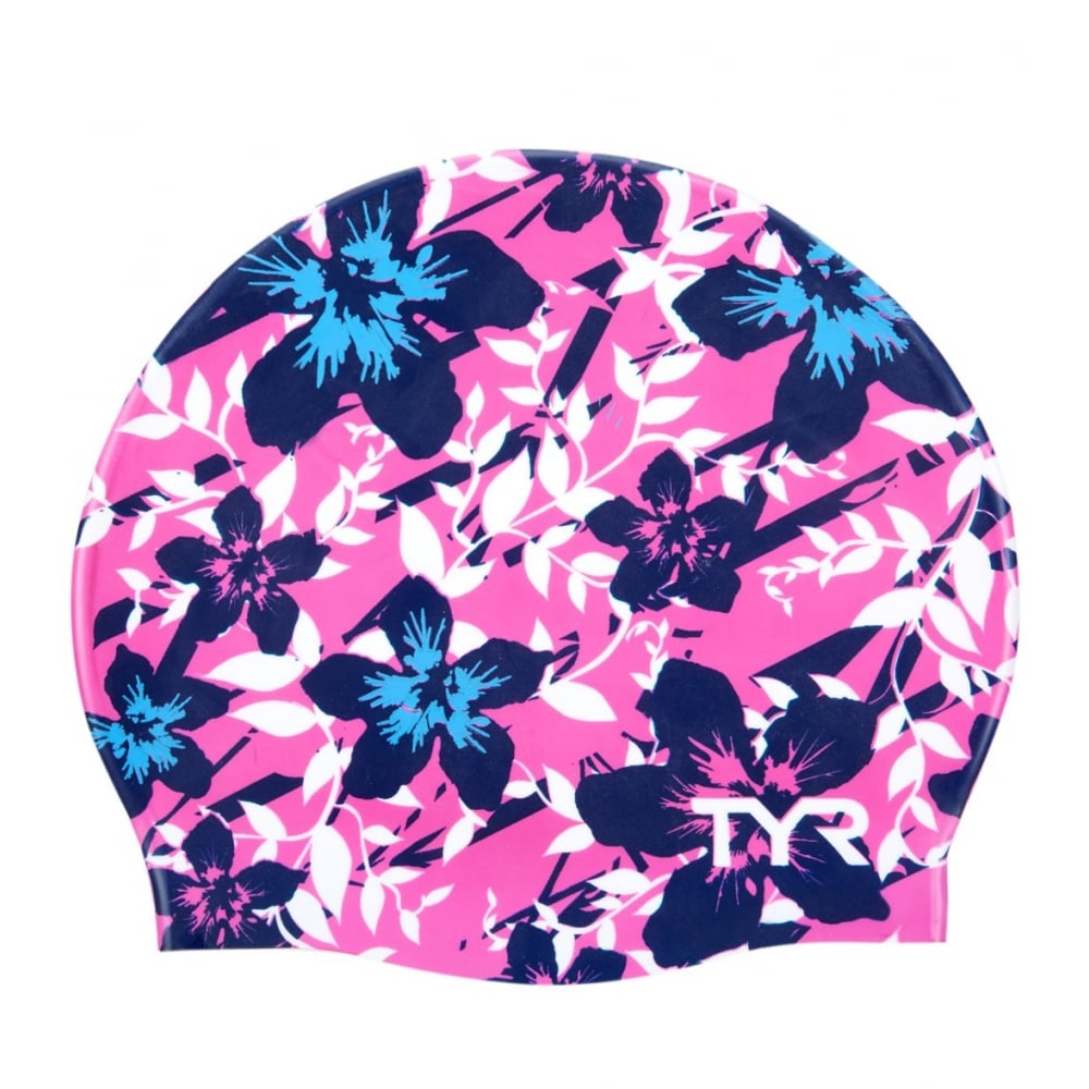 TYR Hibiscus Silicone Swim Cap - Swimming from The Edge Sports Ltd dec329a3e