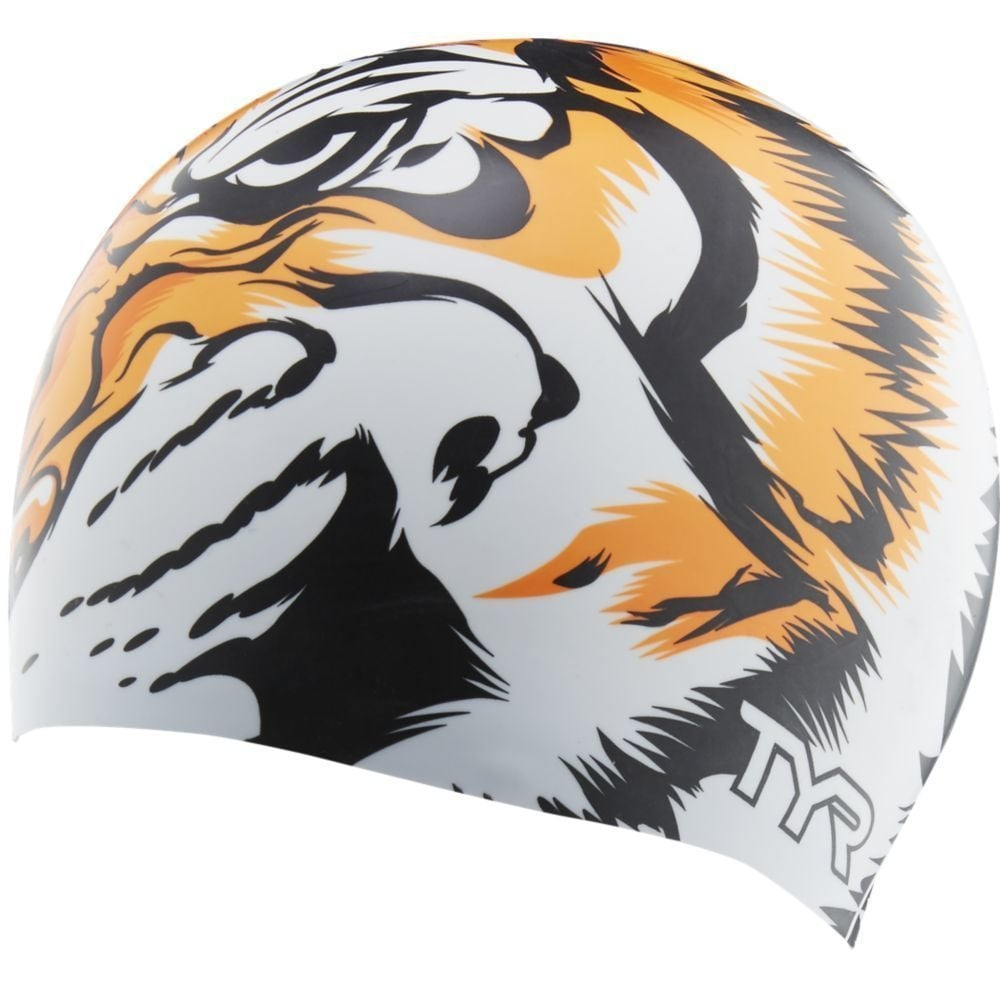 TYR Tiger Silicone Swim Cap - Swimming from The Edge Sports Ltd 949392728