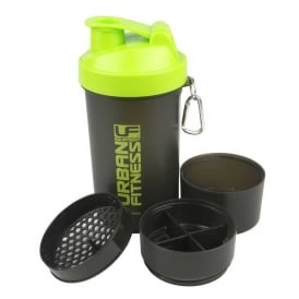 UF Equipment 3in1 Protein Shaker 600ml Black/Green