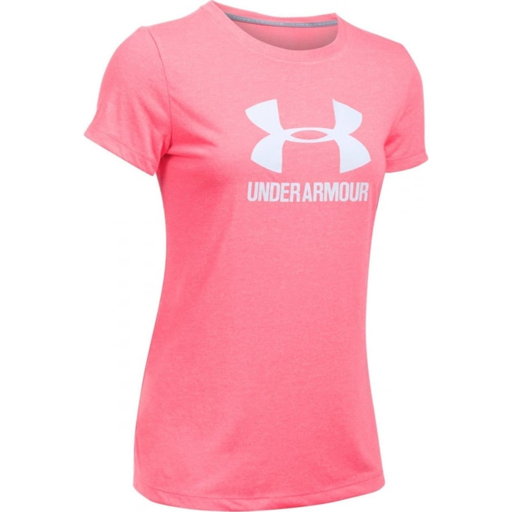 Under armour women 39 s ua threadborne logo t shirt for Under armour i will shirt