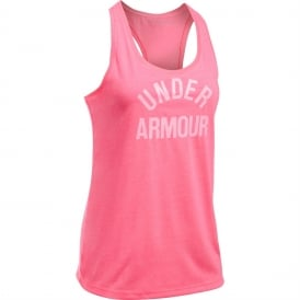 Women's UA Threadborne Train Wordmark Tank-Twist