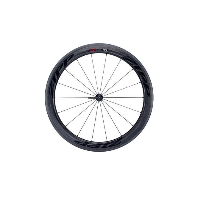 Zipp 404 Firecrest Carbon Clincher Front Wheel with Stealth Decals