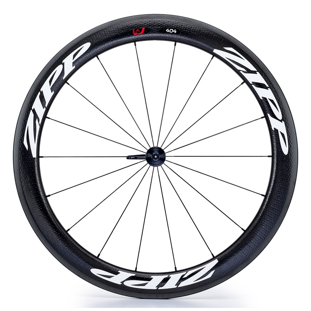 404 firecrest carbon clincher front wheel with white decals