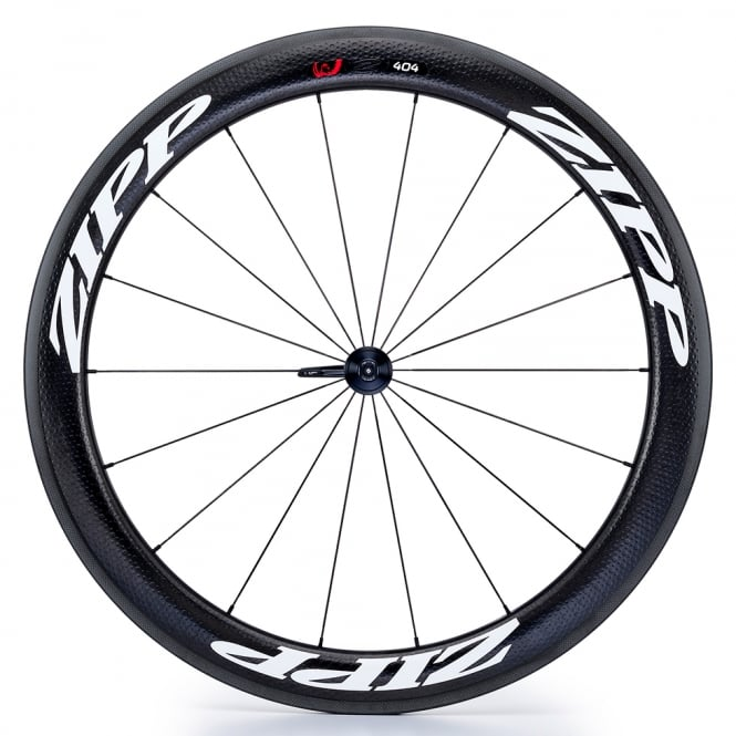 Zipp 404 Firecrest Carbon Clincher Front Wheel with White Decals