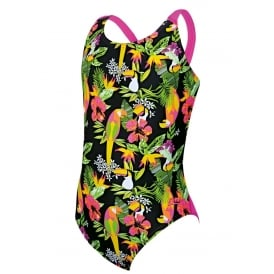 Zoggs Girl's Paradise Flyback Swimsuit