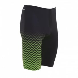 Zoggs Men's Chevron Jammer Swimming Trunks Black/Green